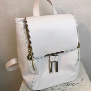 Handbags - White flap over bookbag